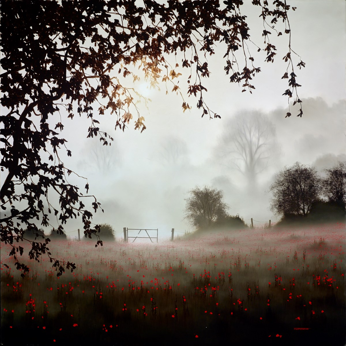 The Timeless Meadow by john waterhouse -  sized 35x35 inches. Available from Whitewall Galleries